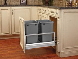 organise your kitchen with a trash can cabinet pullouts carolina rh pinterest com  pull out racks for kitchen cabinets