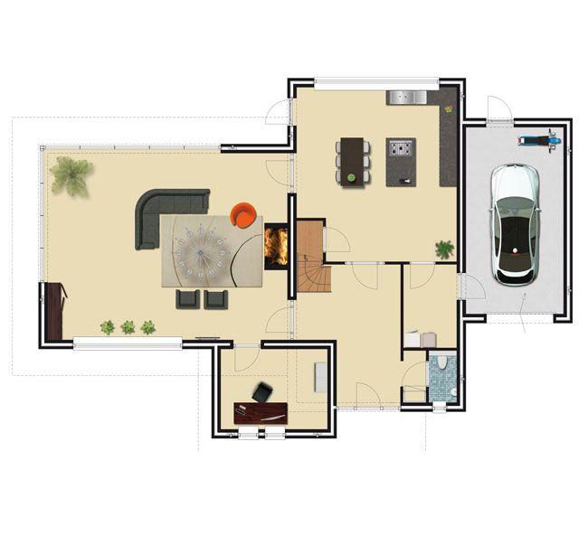 Plattegrond moderne woning google zoeken plattegrond woningen pinterest search - Plan indoor moderne woning ...