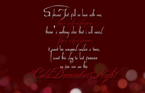 cold december night christmas time is here music lyrics music songs