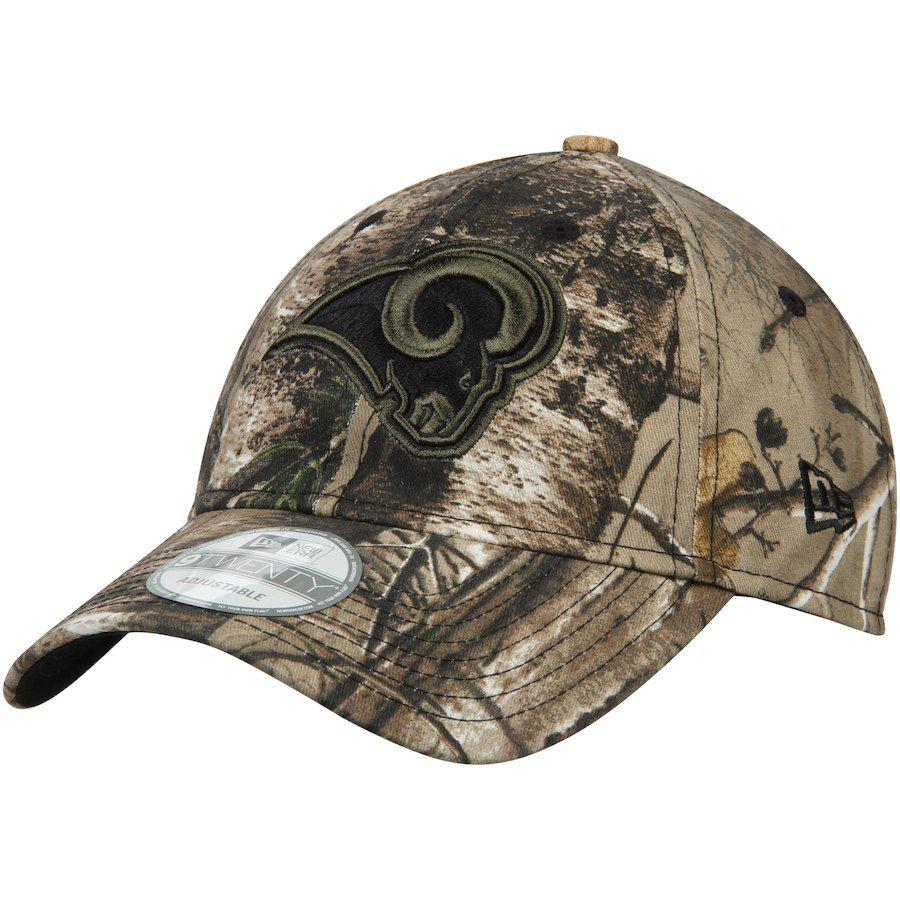 Men s Los Angeles Rams New Era Realtree Camo 9TWENTY Adjustable Hat ... 2a6a19bb0