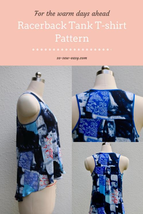 Free Sewing Pattern Racerback Tank T Shirt Free Sewing Patterns