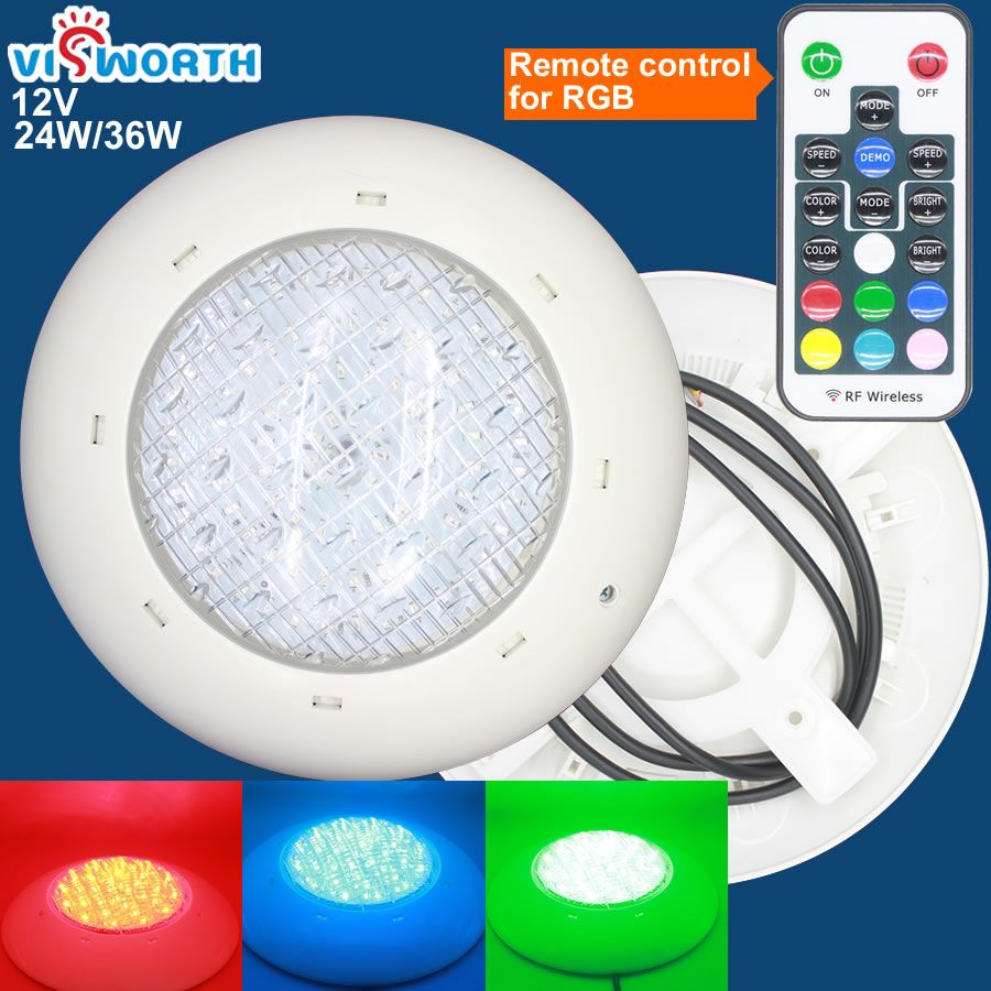 Visworth 24w 36w Led Swimming Pool Light Ip68 Ac Dc 12v Outdoor Lighting Rgb Led Lamp Pond Led Piscina L Swimming Pool Lights Pool Light 12v Outdoor Lighting
