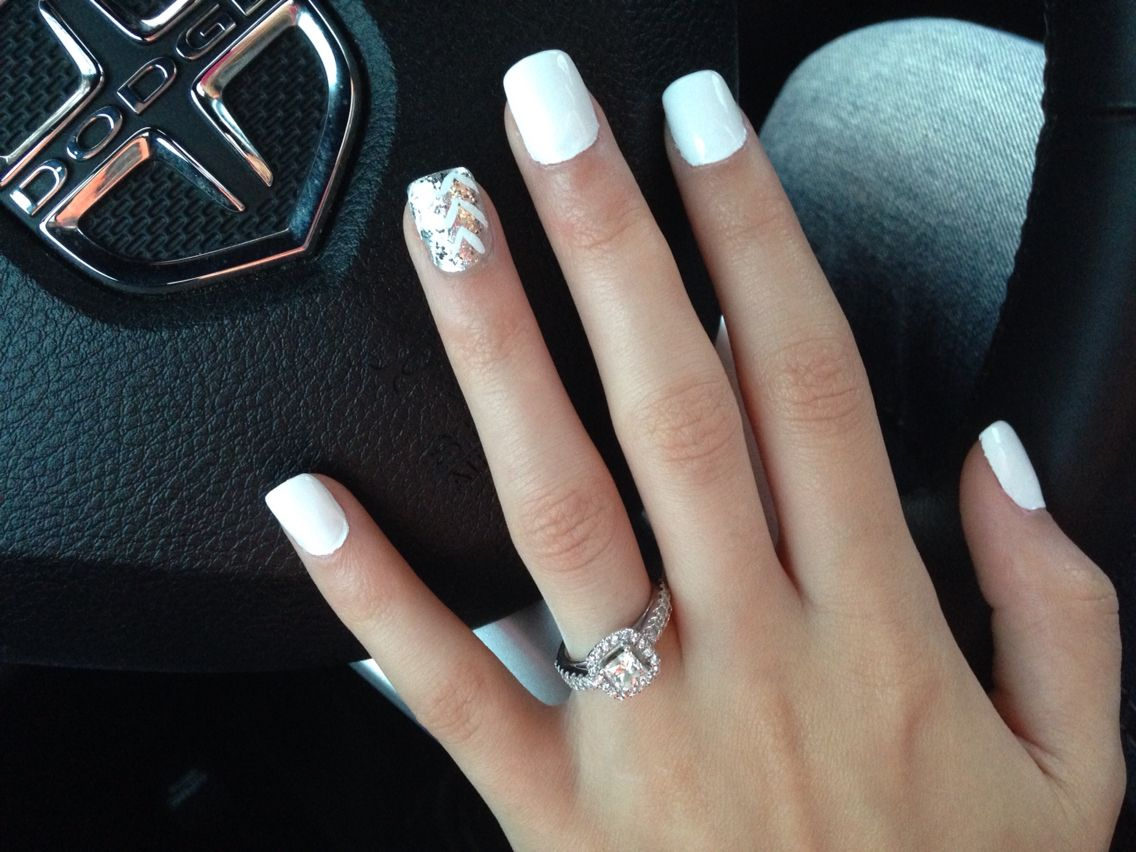 My simple nails for winter/holidays Acrylic nails | Nails | Pinterest