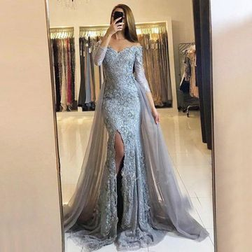 97efd5cdda 49%OFF Sheath Long Sleeves Zipper Beading Prom Dresses 2018 Lace For Short  Girls – lolipromdress.com