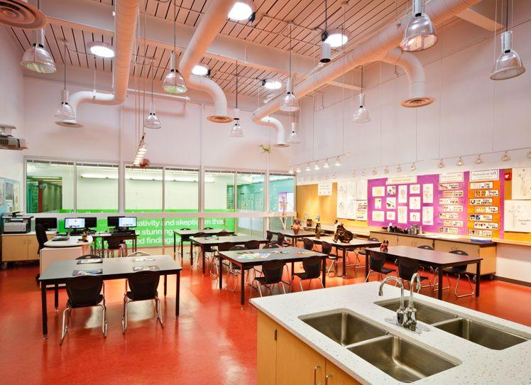 Classroom Building Design ~ Booker t washington stem academy champaign unit