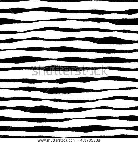 Zebra pattern. Seamless vector. Black and white. - stock vector