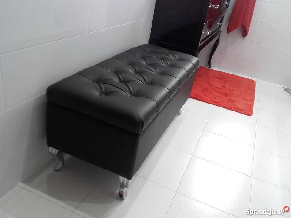 Lawka Pikowana Otwierana Nozki Chrom Laweczka Szafka Na Buty Glamour Stylowa Furniture Home Decor Decor