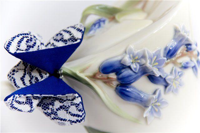 Все, что в жизни есть у меня: Мастер-класс бабочка -брошь из ткани в технике оригами