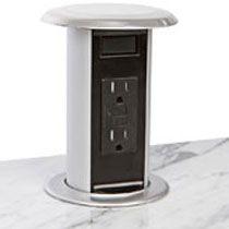 Power Amp Data Round Desktop Grommet Countertops Kitchen