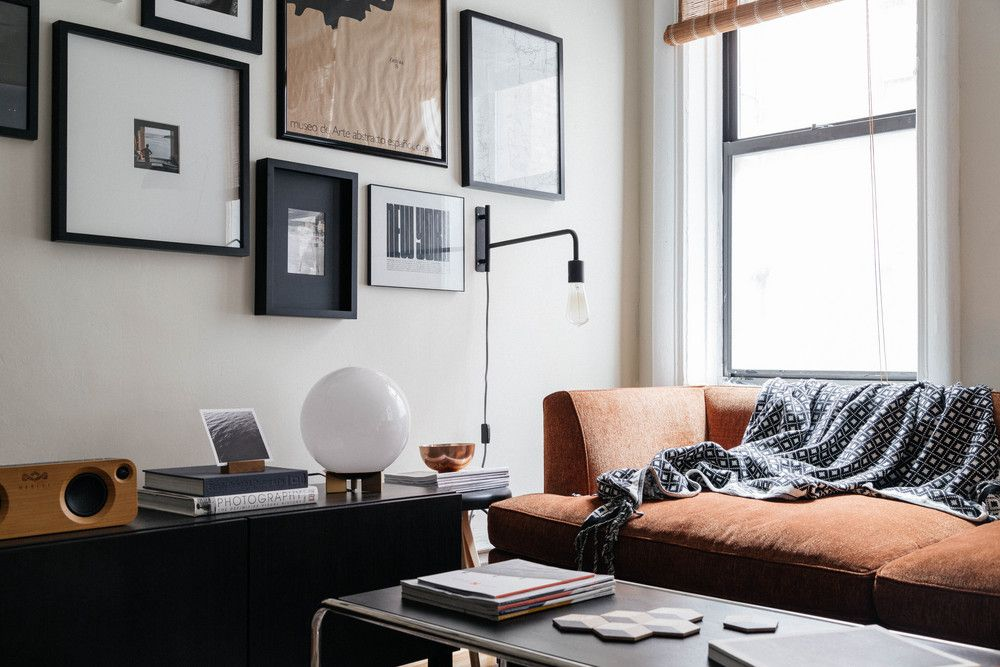 Masculine Contemporary Design Aesthetic Nyc Home Tour Small