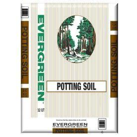 Evergreen 32 Quart Organic Potting Soil Brown Mulch Potting