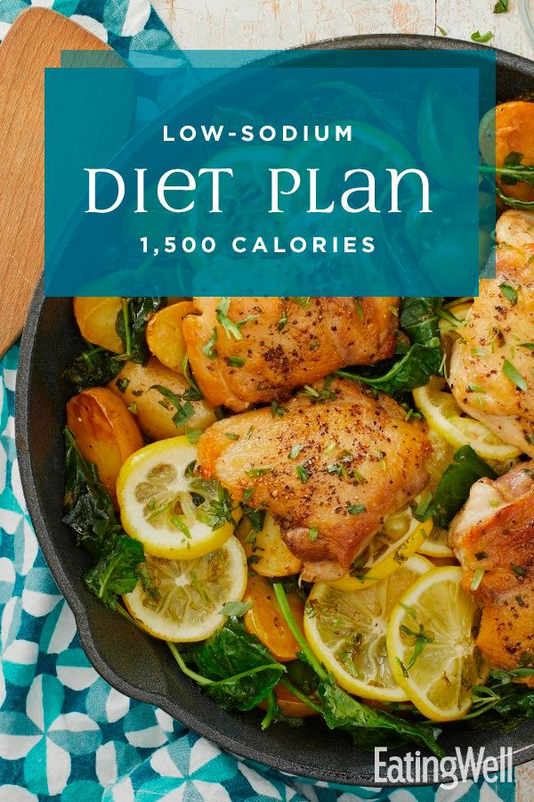 LowSodium Diet Plan 1,500 Calories Low sodium diet