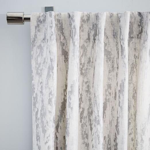 Bark Texture Jacquard Curtain Blackout Lining Platinum