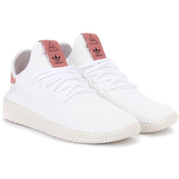 new product 68524 e8d29 adidas Originals   Pharrell Williams Tennis Hu Mesh Sneakers ( 115) ❤ liked  on Polyvore featuring shoes, sneakers, white, tennis sneakers, adidas  originals ...