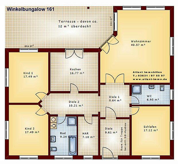 Bungalow Winkelbungalow grundriss, Haus grundriss