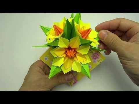 декор своими руками цветы на стену Youtube Origami