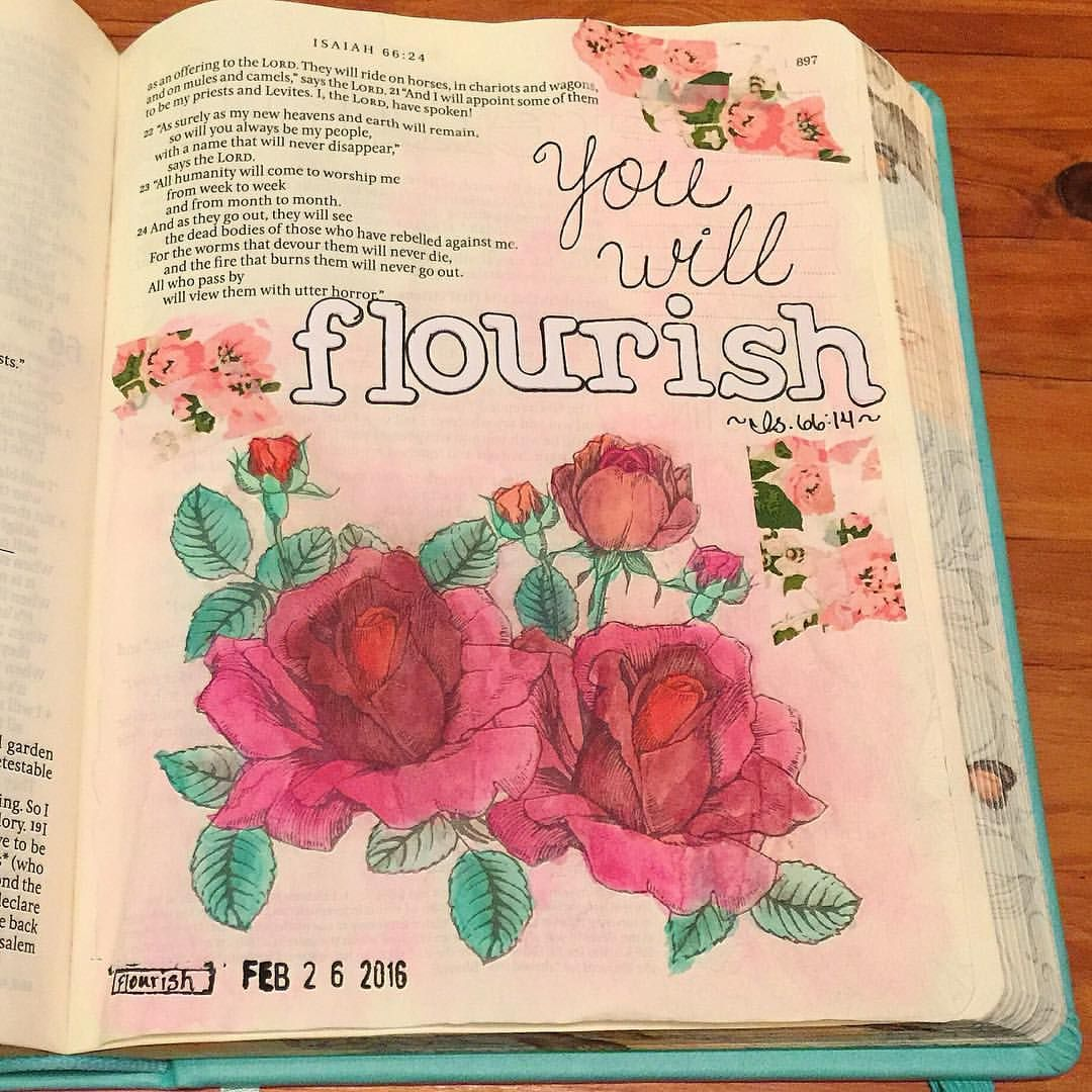 Isaiah 66 14 Here Is The Finished Watercolor Page In My Inspirebible From My Periscope Tonight