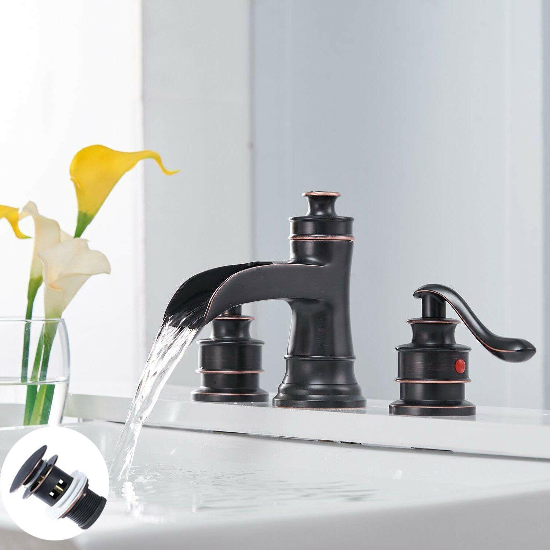 Bwe Waterfall Oil Rubbed Bronze Bathroom Basin Sink Faucet