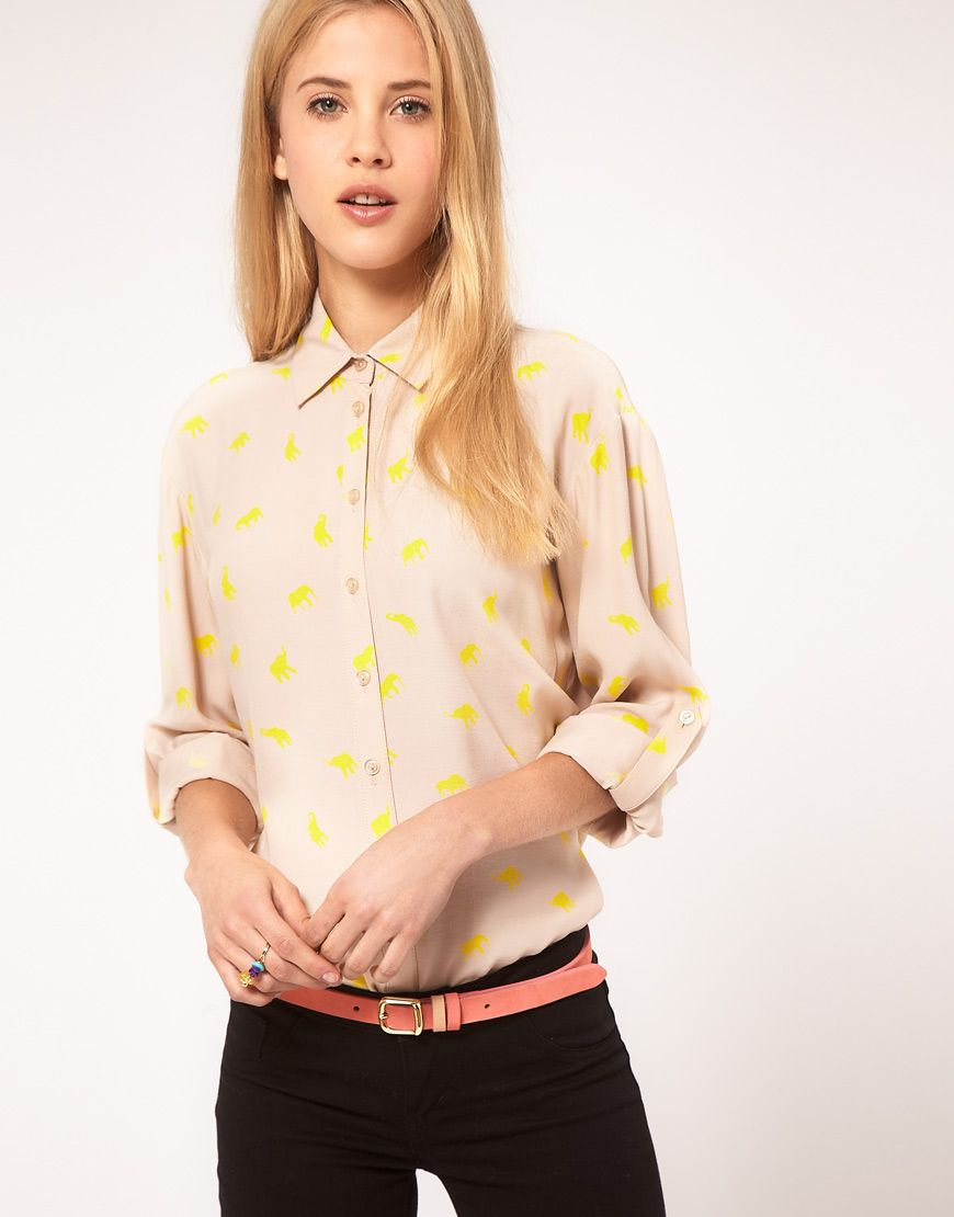 #fashion #style #dresscode #outfit #shirt #dot #polka #cream #belt #coral #jeans #skinny