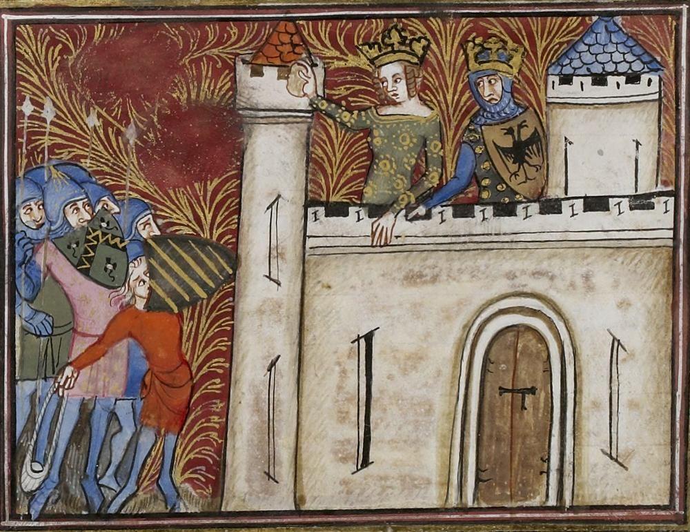 Manuscript BNF Français 246 Histoire Ancienne Folio 284r Dating 1360-1400 From Paris, Frankreich Holding Institution Bibliothèque Nationale