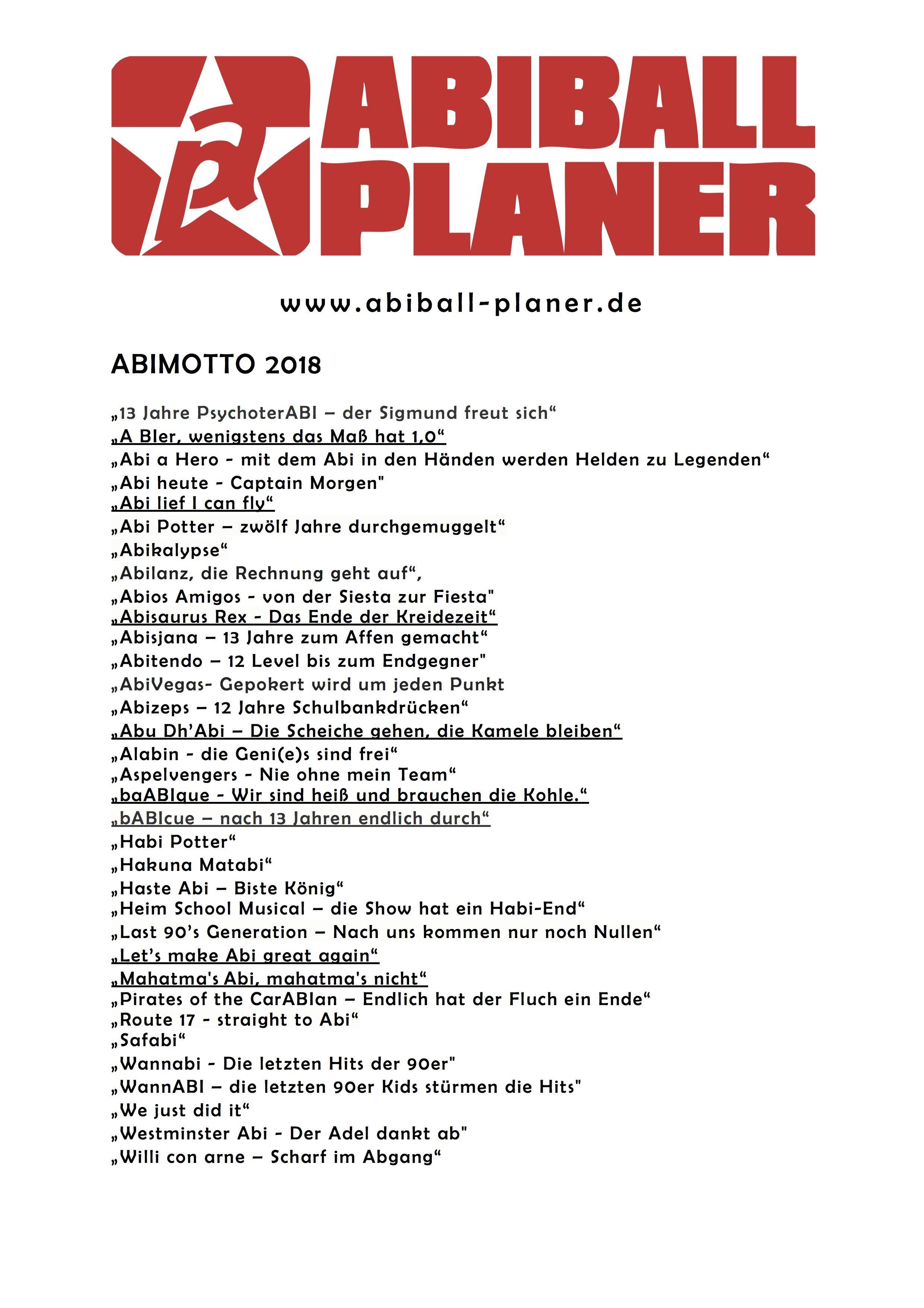 Abiball Planer Abimotto 2018 Abiball Agentur Berlin 2017