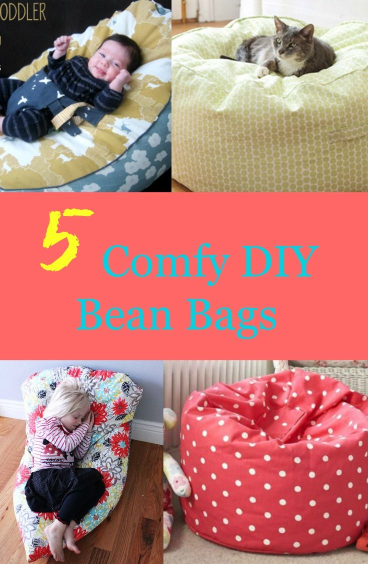 5 Comfy Diy Bean Bags Diy Bean Bag Kids Bean Bags Bean