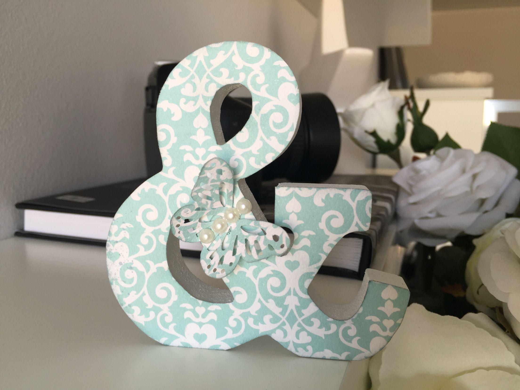 Pin pan scrap , letra decorada para regalos personalizados