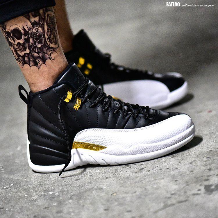Nike Air Jordan Xii 12 Retro Wings Black Metallic Gold White