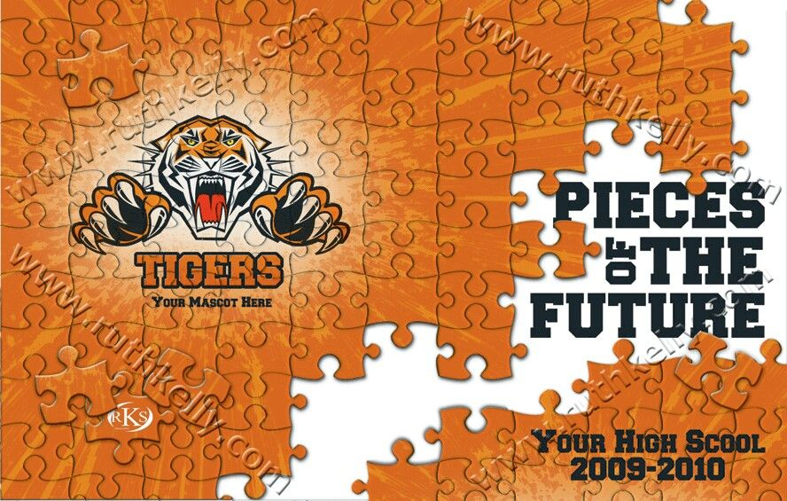 tiger puzzle yearbook ideas pinterest yearbook covers