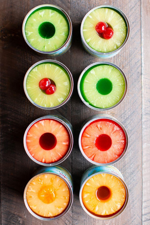 Jello in a Pineapple Can Recipe Pineapple jello, Jello