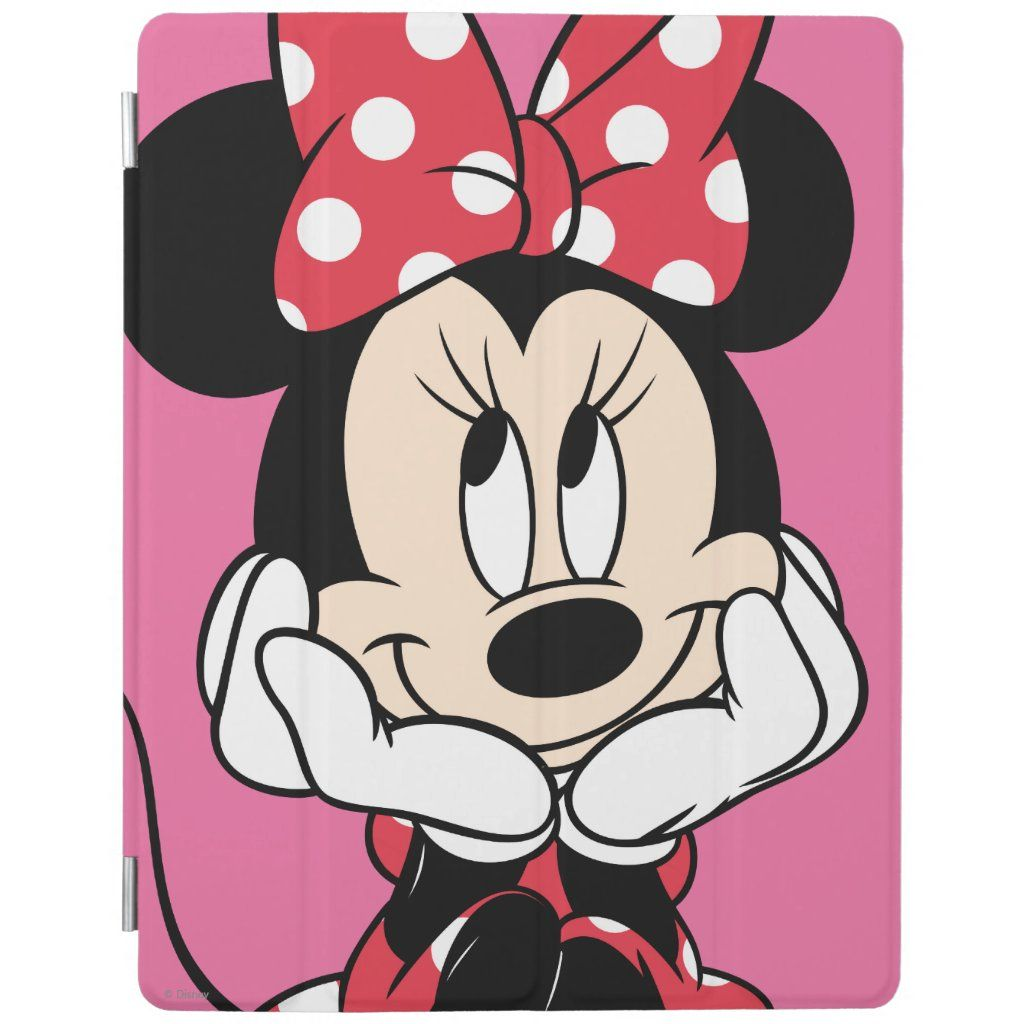 Red Minnie Head In Hands Ipad Smart Cover Zazzle Com Minnie Mouse Images Minnie Mouse Cartoons Minnie Mouse Drawing