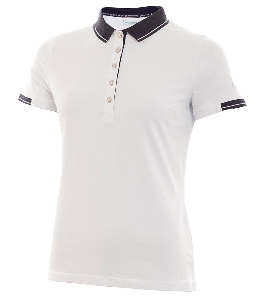 d3a76f75f Green Lamb Ladies Paige Jersey Club Polo Shirt - Golfonline | Green ...