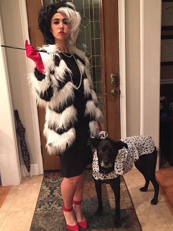 Diy 101 dalmatians cruella de vil costume pinterest dalmatian diy 1001 dalmatians cruella de vil costume your costume idea for halloween mardi gras and carnival solutioingenieria Images