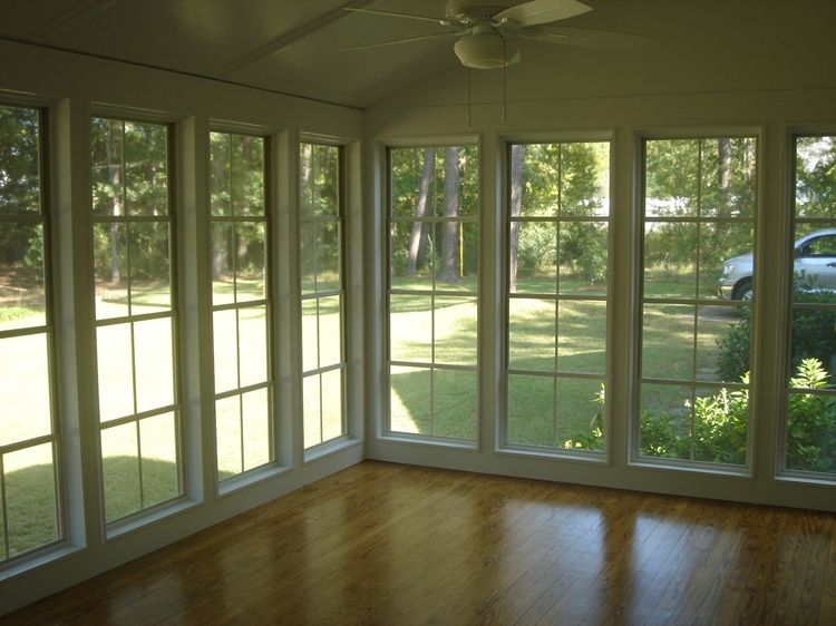 Screened Porches Macon Warner Robins Decks And Patios Sunroom Windows House With Porch Porch To Sunroom