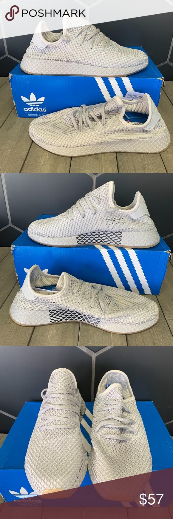 Adidas Deerupt Runner Muted Neon Light Grey Shoe New W Box