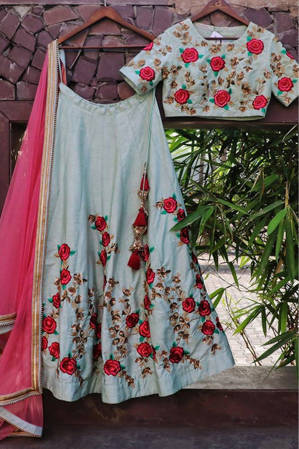 3fa142235 Off White Colour Nylon Nora Silk Fabric Lehenga Choli Comes with matching  blouse. This Lehenga Choli Is crafted with Embroidery This Lehenga Choli  Comes ...