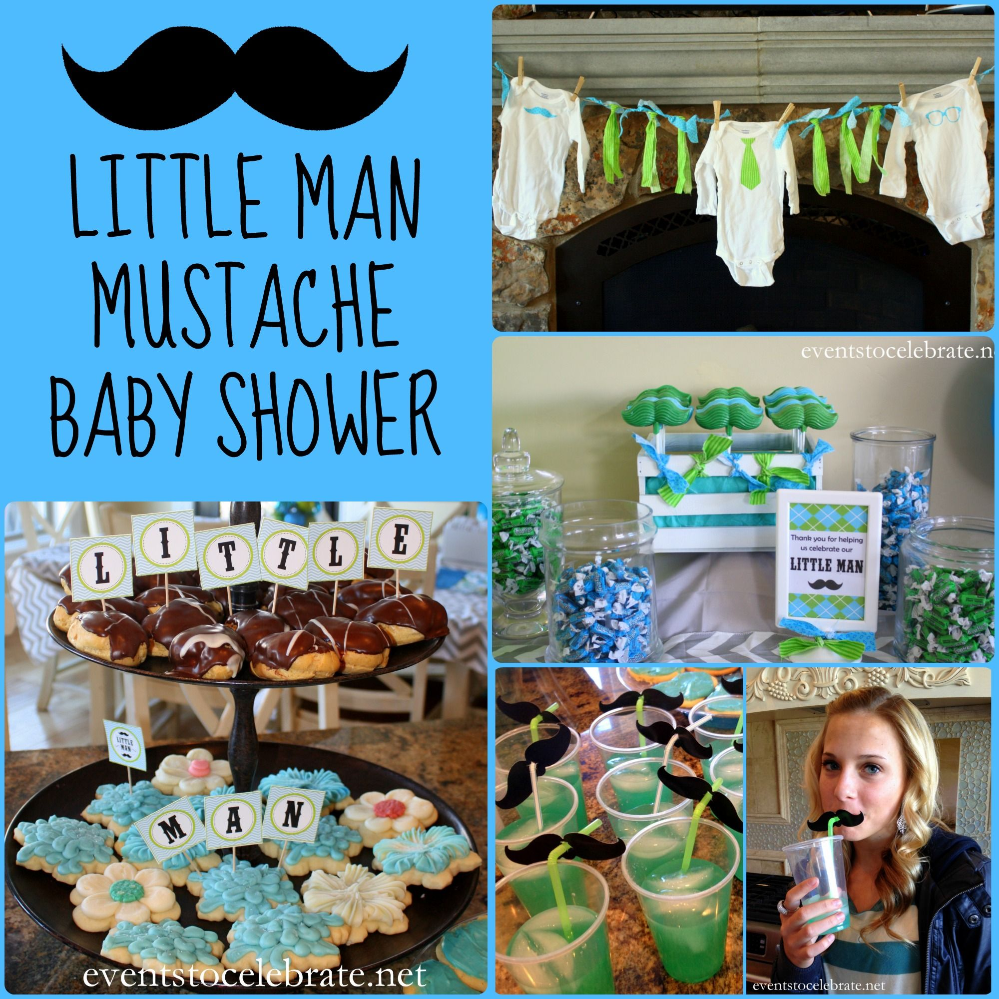 Little Man Mustache Baby Shower   Events To CELEBRATE!