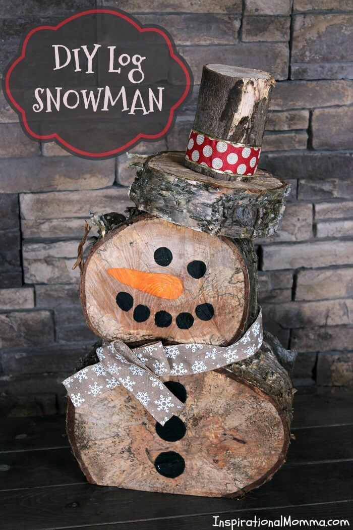 20 Outdoor Christmas Decor Ideas You Cannot Afford To Ignore Log - outdoor snowman christmas decorations