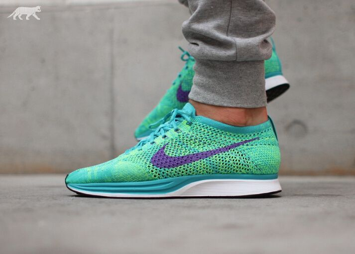 "official photos c22ab 0e3a4 Nike Flyknit Racer ""Grape"" Purple 526628 For Men and Women only  40"