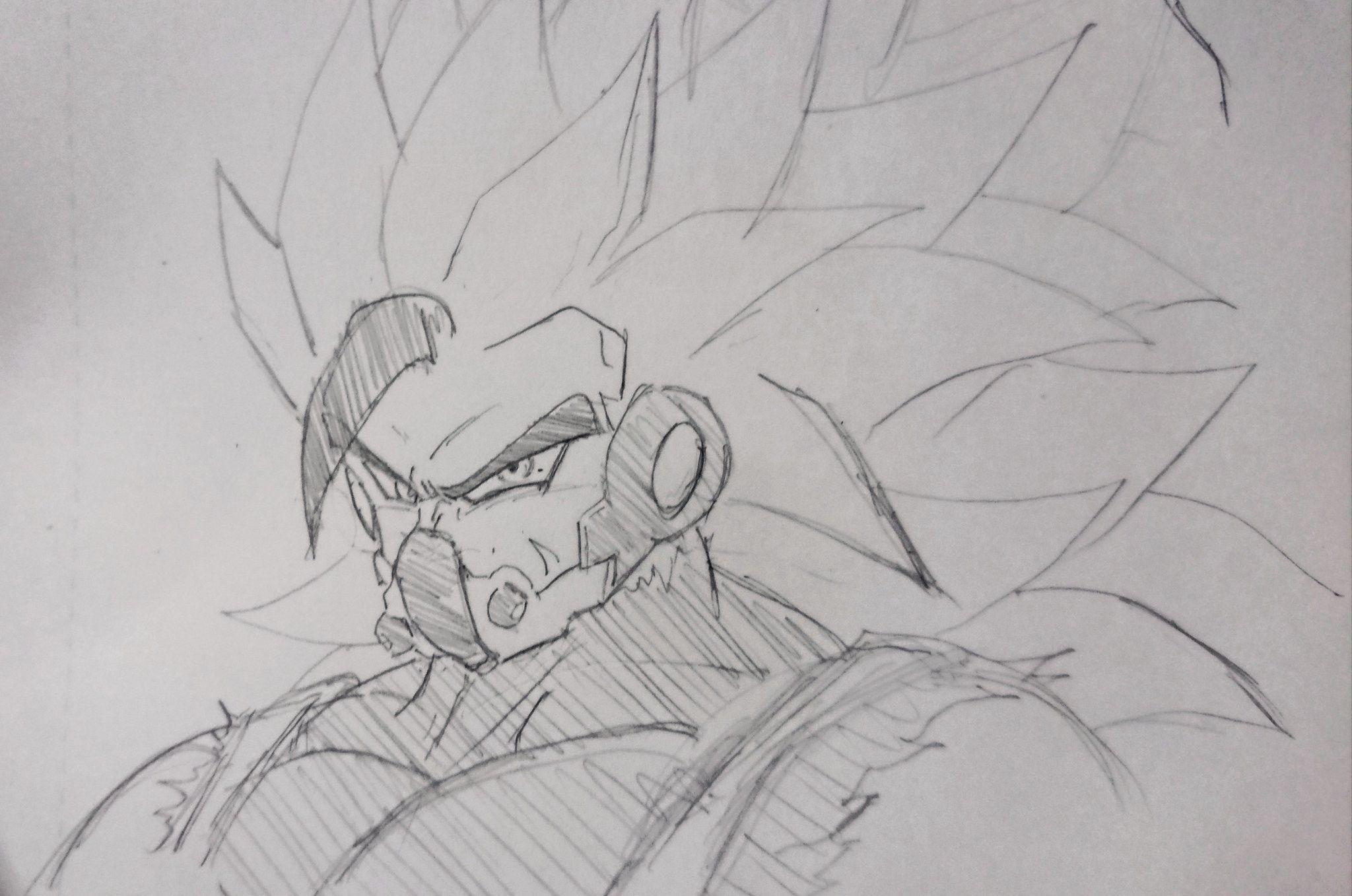 Kamba The Evil Saiyan Desenhos A Lapis Desenhos Dragonball