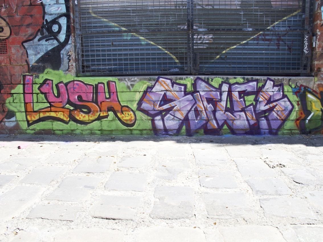 Lush Sofles Do Fitzroy Land Of Sunshine Melbourne Street Street Art Graffiti Sunshine