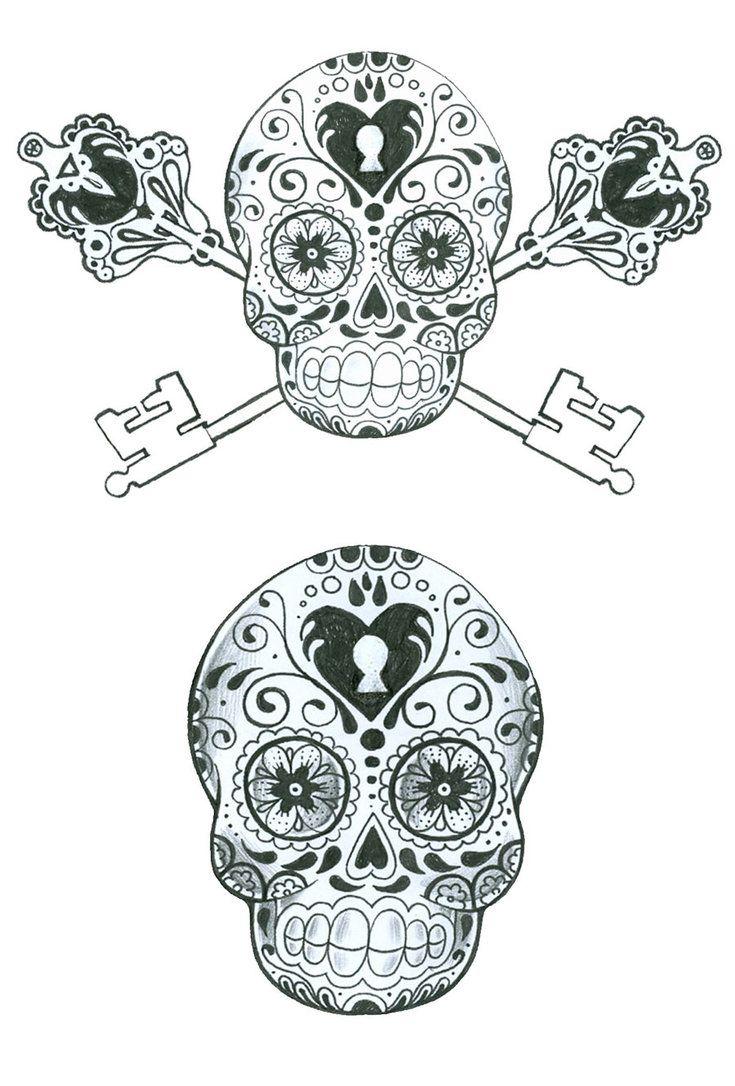 Skeleton Key Tattoo Google Search Skull Tattoo Design Sugar