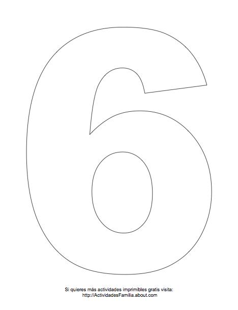N Umero 6 Para Pintar