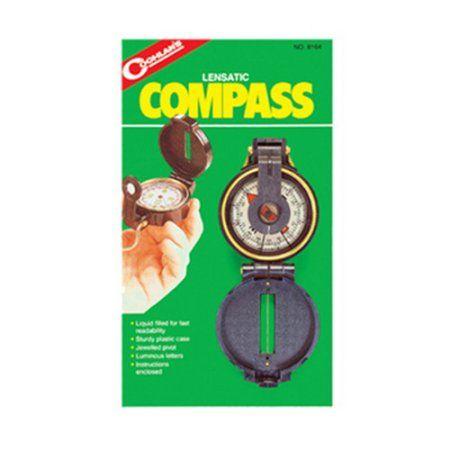 Coghlans Lensatic Compass Compass, Plastic case, Gps