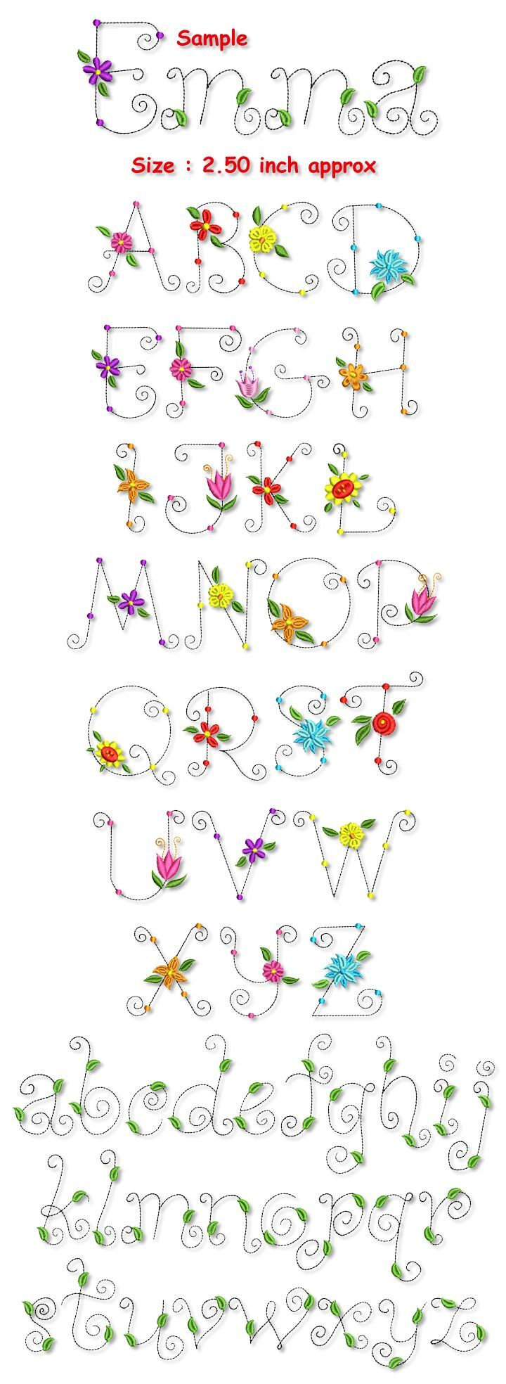 Whimsical Lettering  Blossom Whimsical Font Collection  Letters