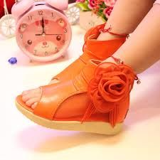Image result for orange girls shoes