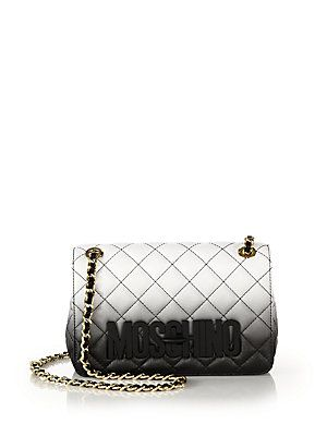 71fbd216a6 Moschino Small Dégradé Quilted Leather Shoulder Bag   Clutch bags ...