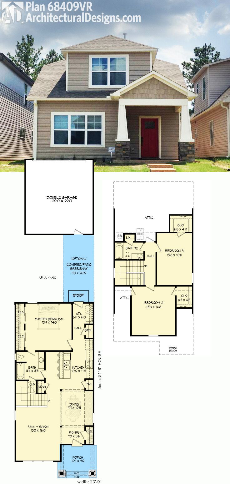 Plan 68409vr northwest bungalow house plan bungalow for Wide lot house plans
