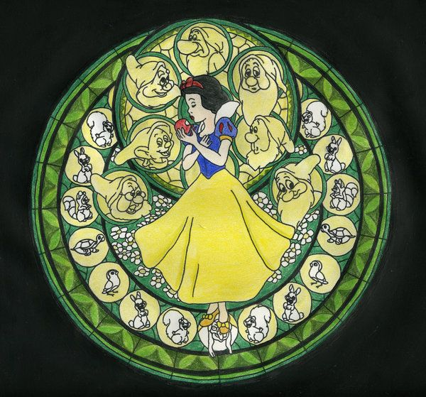 KH Stained Glass - Snow White by ~BastRulez on deviantART