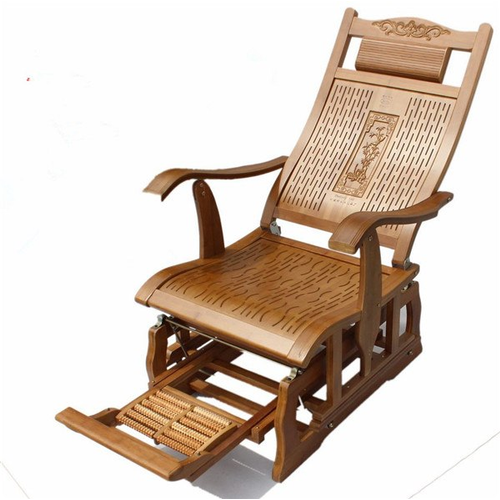 Modern Bamboo Rocking Chair Adult Glider Rocker Natural Bamboo Furniture Indoor Bamboo Furniture Rocking Chair Furniture